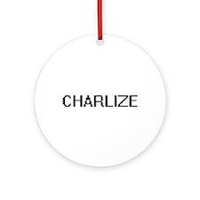 Charlize Digital Name Ornament (Round)