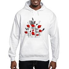 Beautiful Red Whimsical Poppies Hoodie