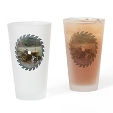 Cool Vintage tractor Drinking Glass