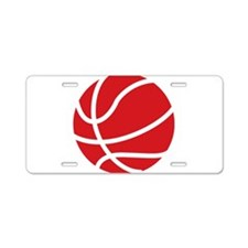 Basketball Red Aluminum License Plate