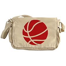 Basketball Red Messenger Bag