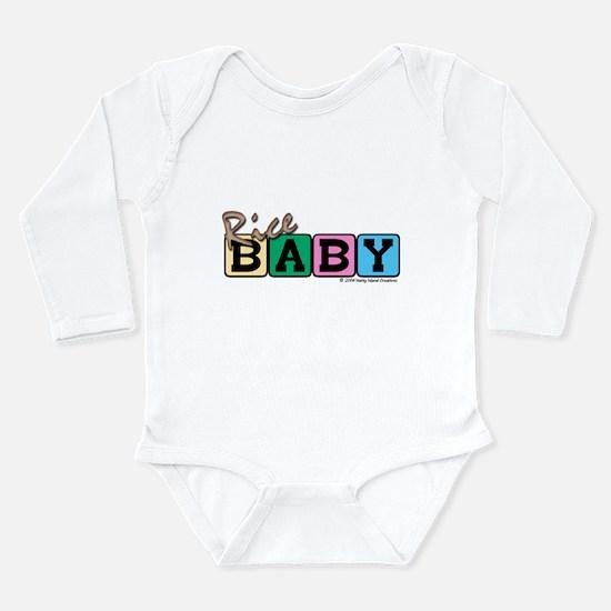 Cute Brown rice Long Sleeve Infant Bodysuit