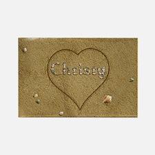 Christy Beach Love Rectangle Magnet
