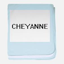 Cheyanne Digital Name baby blanket