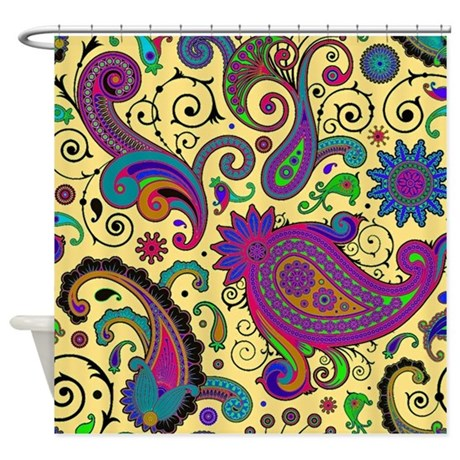 Yellow And Purple Paisley Shower Curtain By Admin CP59133934