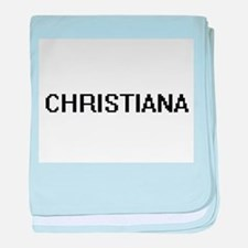 Christiana Digital Name baby blanket