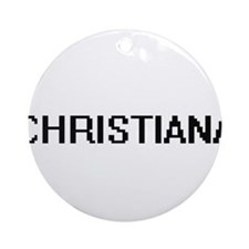 Christiana Digital Name Ornament (Round)