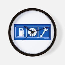 Gas Food Deathray Wall Clock