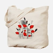 Beautiful Red Whimsical Poppies Tote Bag
