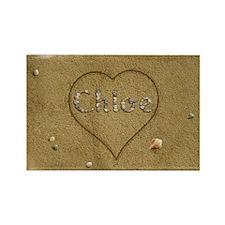 Chloe Beach Love Rectangle Magnet