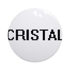 Cristal Digital Name Ornament (Round)