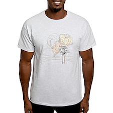 Delicate Earthtone Poppies T-Shirt