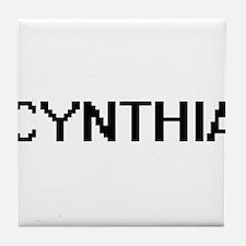 Cynthia Digital Name Tile Coaster