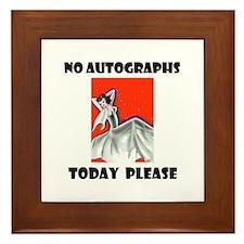 NO AUTOGRAPHS Framed Tile