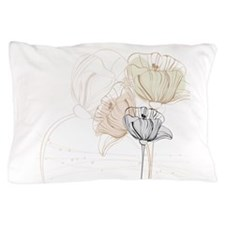 Delicate Painted Poppies Pillow Case