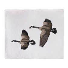 Flying Goose-No Text Throw Blanket