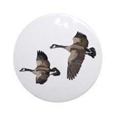 Flying Goose-No Text Ornament (Round)