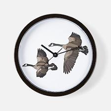 Flying Goose-No Text Wall Clock