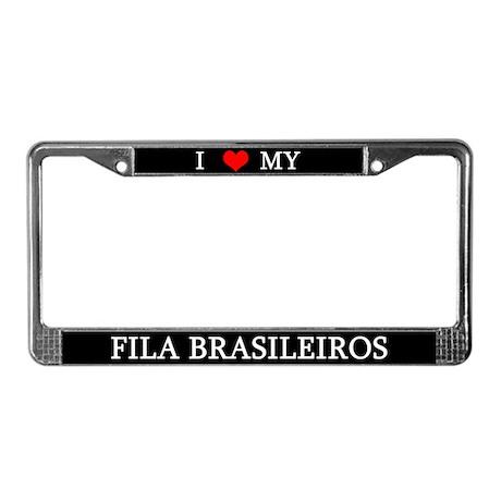 Love Fila Brasileiros License Plate Frame