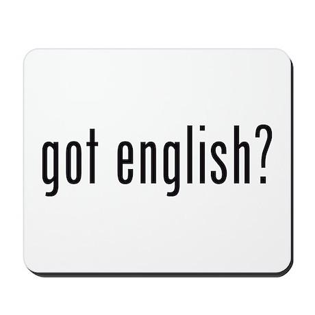 got english? Mousepad