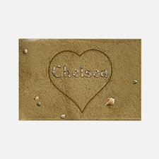 Chelsea Beach Love Rectangle Magnet