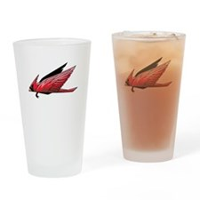 Cardinal Flying Drinking Glass