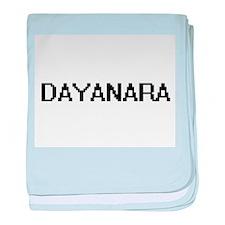 Dayanara Digital Name baby blanket