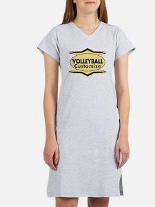 Volleyball Star stylized Women's Nightshirt