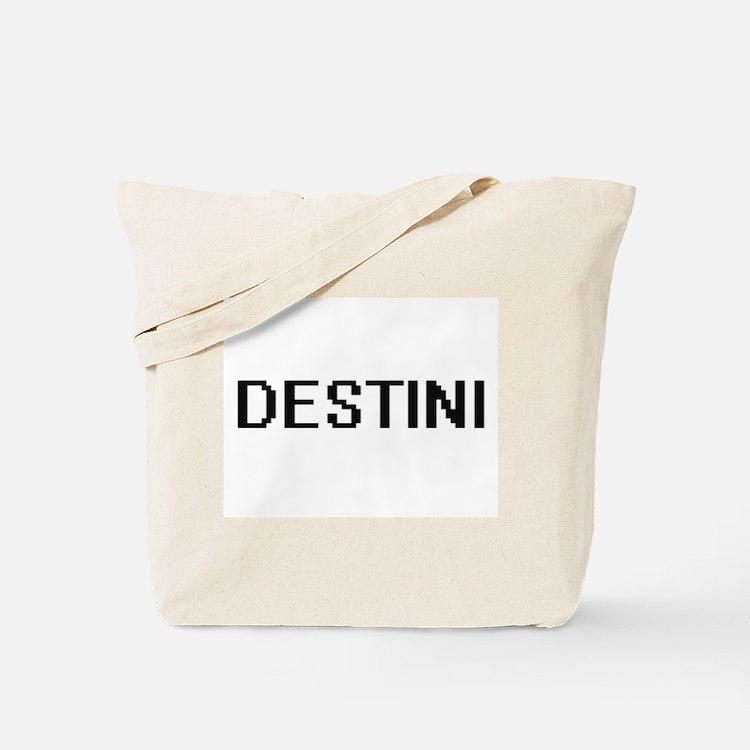 Destini Digital Name Tote Bag