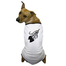 Native American Feathers Dog T-Shirt