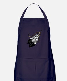 Native American Feathers Apron (dark)