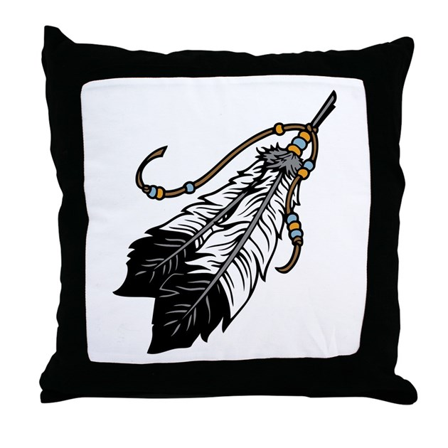 Throw Pillows Next : Native American Feathers Throw Pillow by CoolMascots