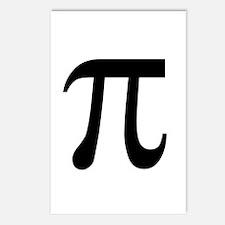 Pi Symbol Postcards (Package of 8)