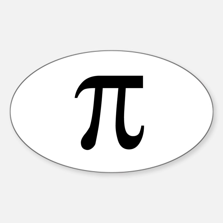 Pi Symbol Oval Decal