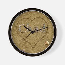 Chad Beach Love Wall Clock