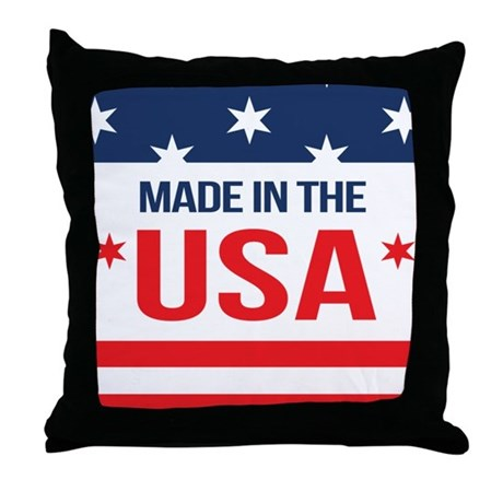 Throw Pillow Made In Usa : Made In USA Throw Pillow by WickedDesigns4