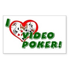 Video Poker Rectangle Decal
