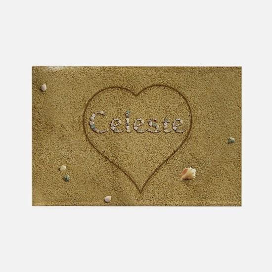 Celeste Beach Love Rectangle Magnet
