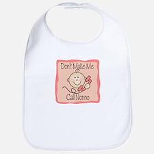 Don't Make Me Call Nonno Girl Baby/Toddler Bib