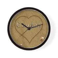 Cayden Beach Love Wall Clock