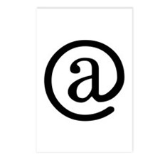 """""""At"""" Symbol Postcards (Package of 8)"""