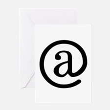 """At"" Symbol Greeting Card"