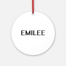 Emilee Digital Name Ornament (Round)