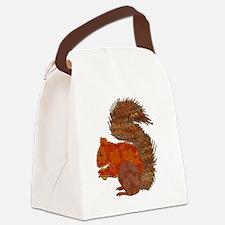 Cute Squirrels Canvas Lunch Bag
