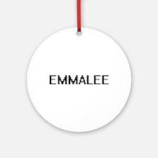 Emmalee Digital Name Ornament (Round)