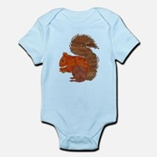 Fabric Applique Squirrel Body Suit