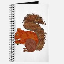 Fabric Applique Squirrel Journal