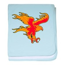 Fire Eagle baby blanket