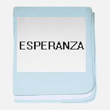 Esperanza Digital Name baby blanket