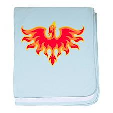 Fire Falcon baby blanket
